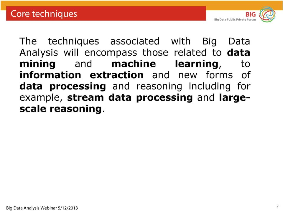 information extraction and new forms of data processing and reasoning
