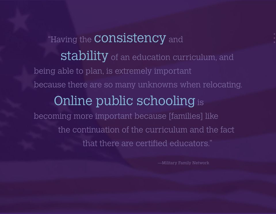 Online public schooling is becoming more important because [families] like the