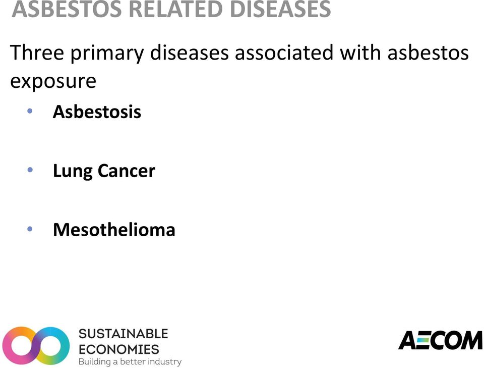 associated with asbestos