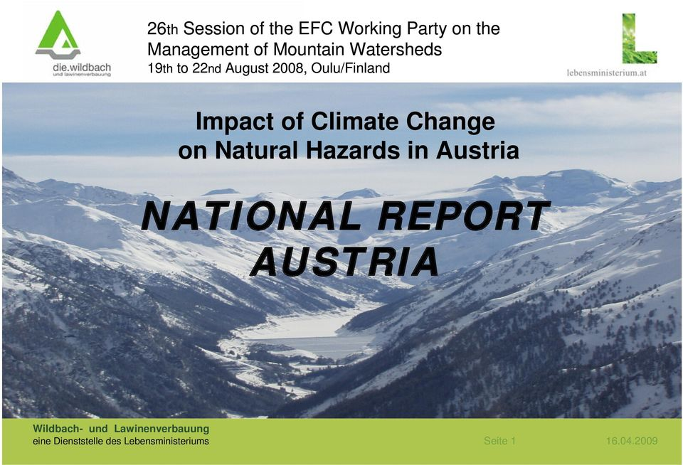 Change on Natural Hazards in