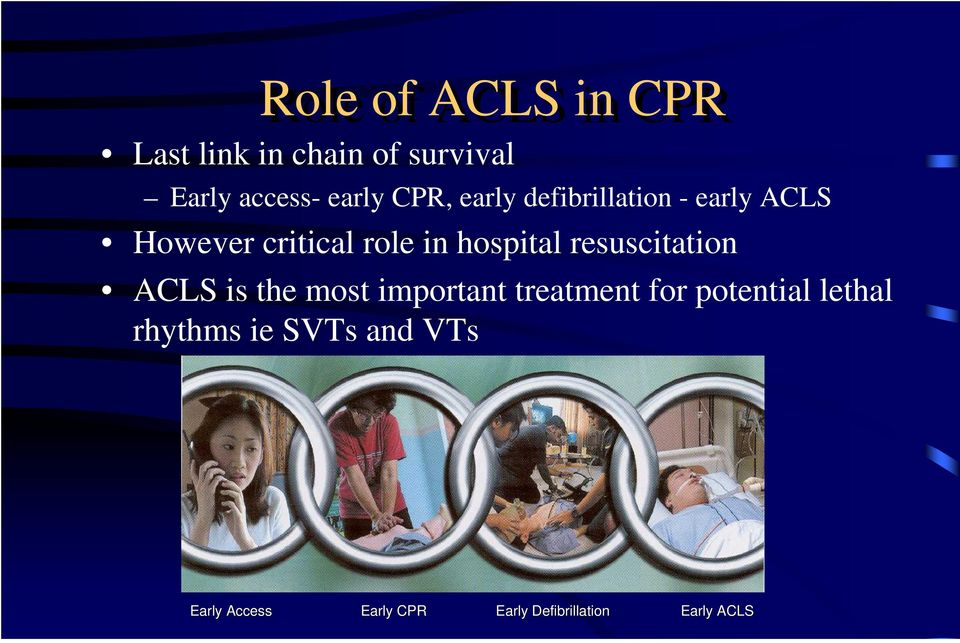 resuscitation ACLS is the most important treatment for potential lethal