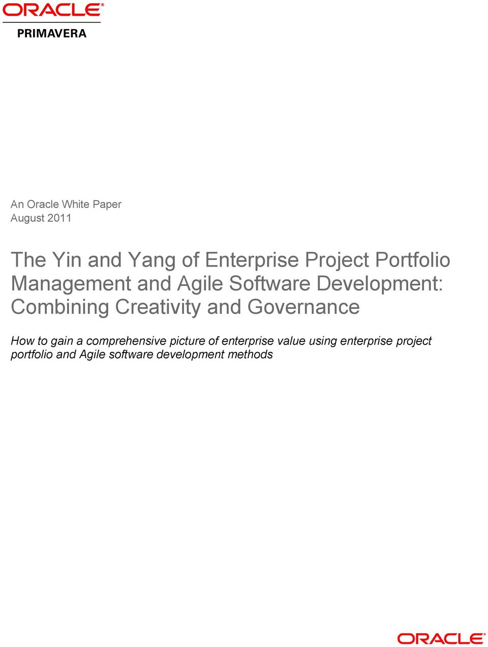 Creativity and Governance How to gain a comprehensive picture of