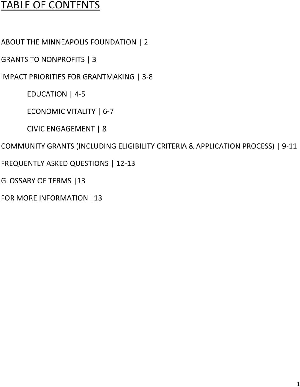 ENGAGEMENT 8 COMMUNITY GRANTS (INCLUDING ELIGIBILITY CRITERIA & APPLICATION