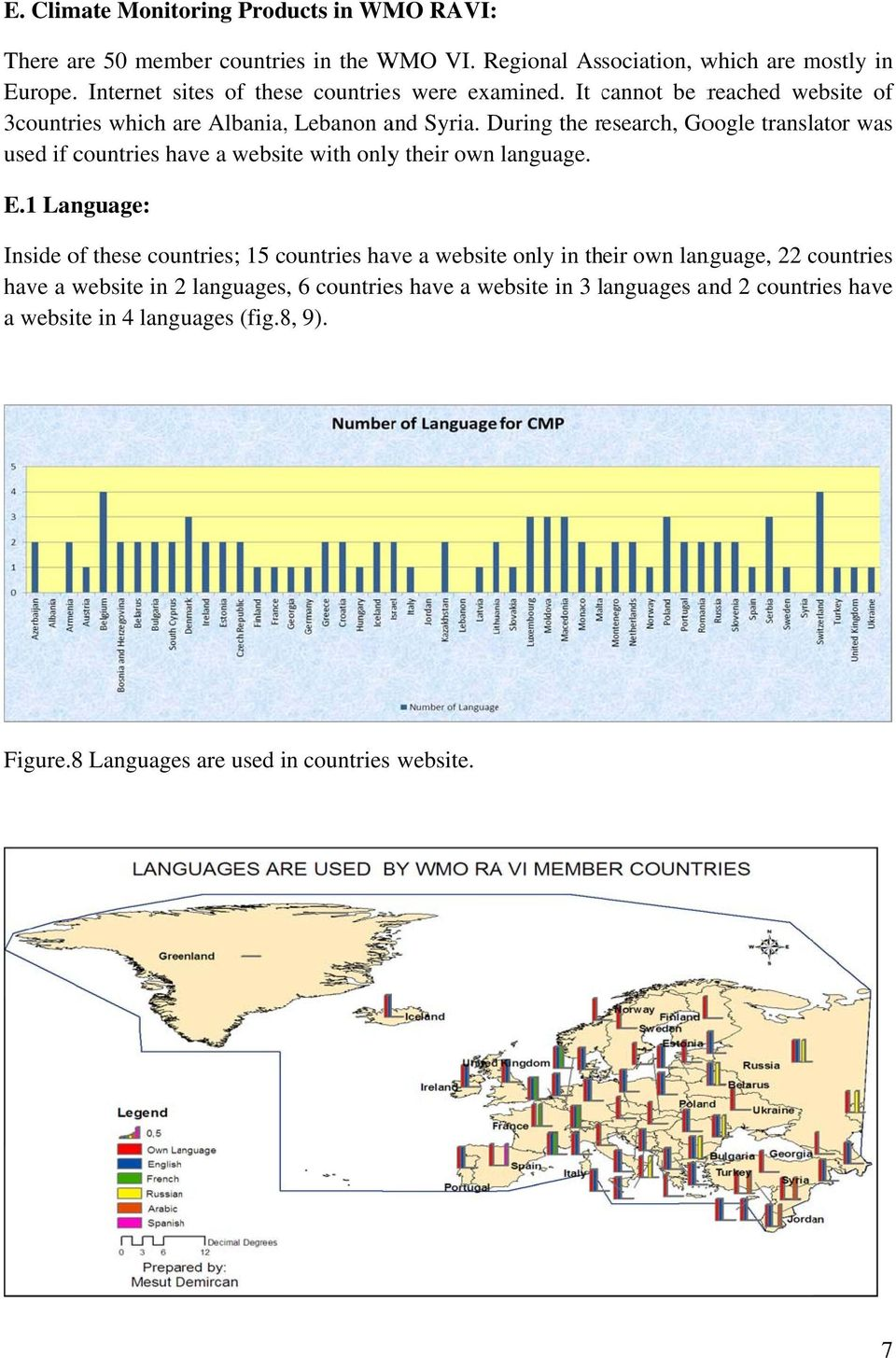 During the research, Google translator was used if countries have a website with onlyy their own language. E.
