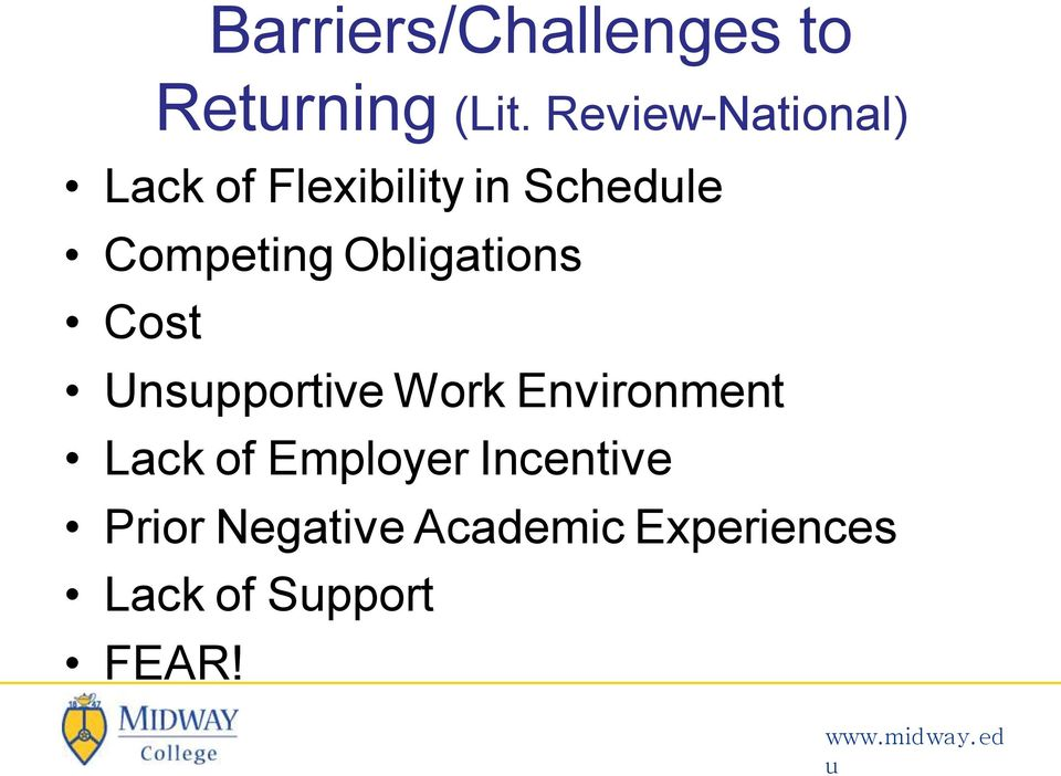 Competing Obligations Cost Unspportive Work Environment