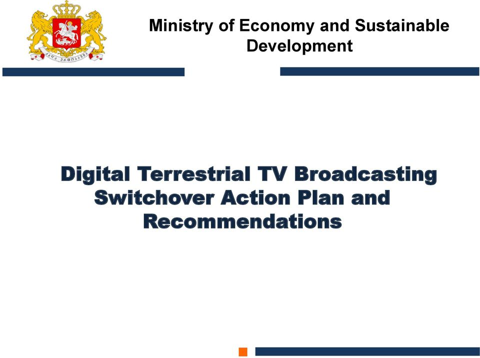 Terrestrial TV Broadcasting