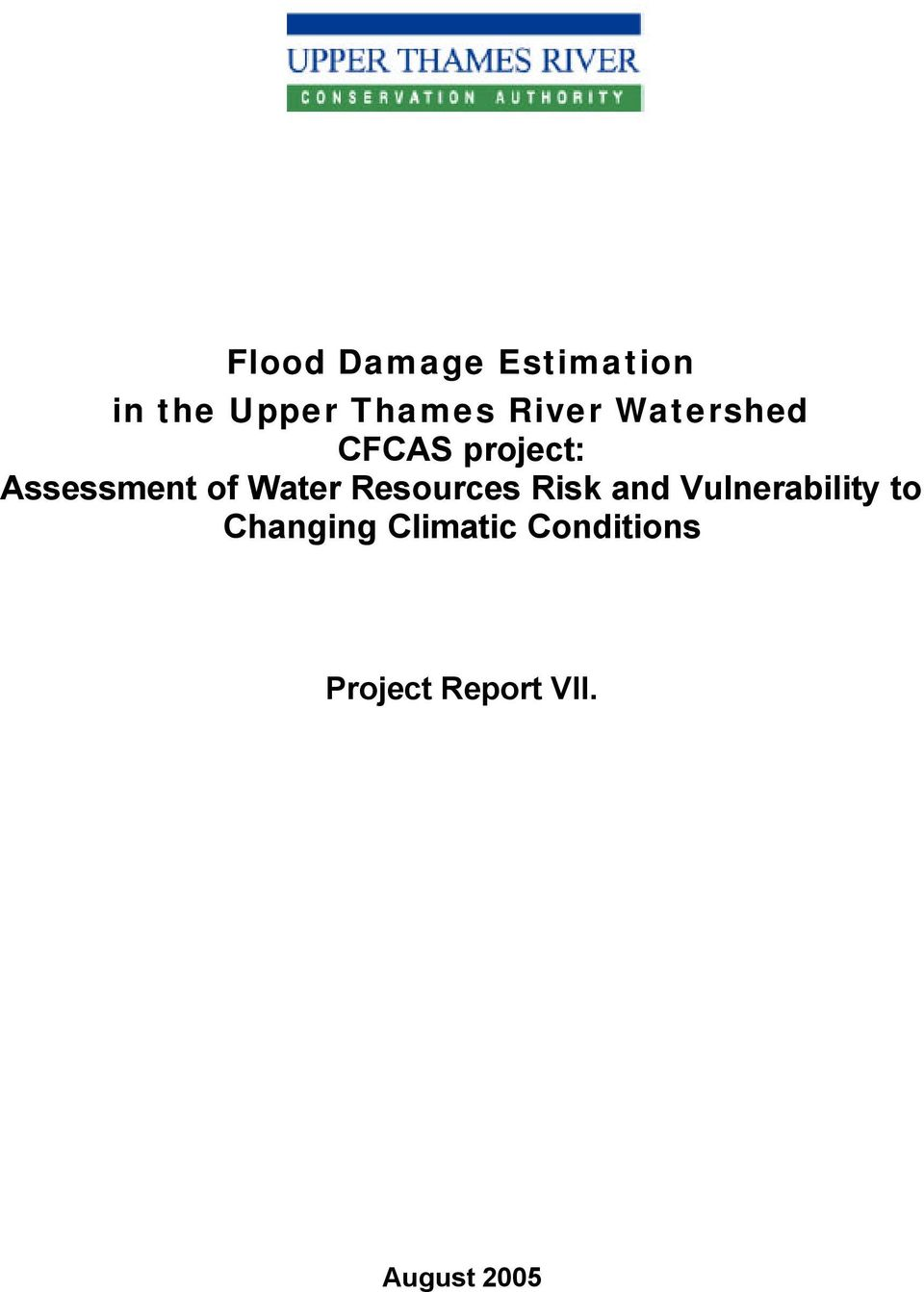 Water Resources Risk and Vulnerability to