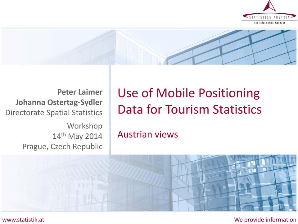 Czech Republic Use of Mobile Positioning Data for