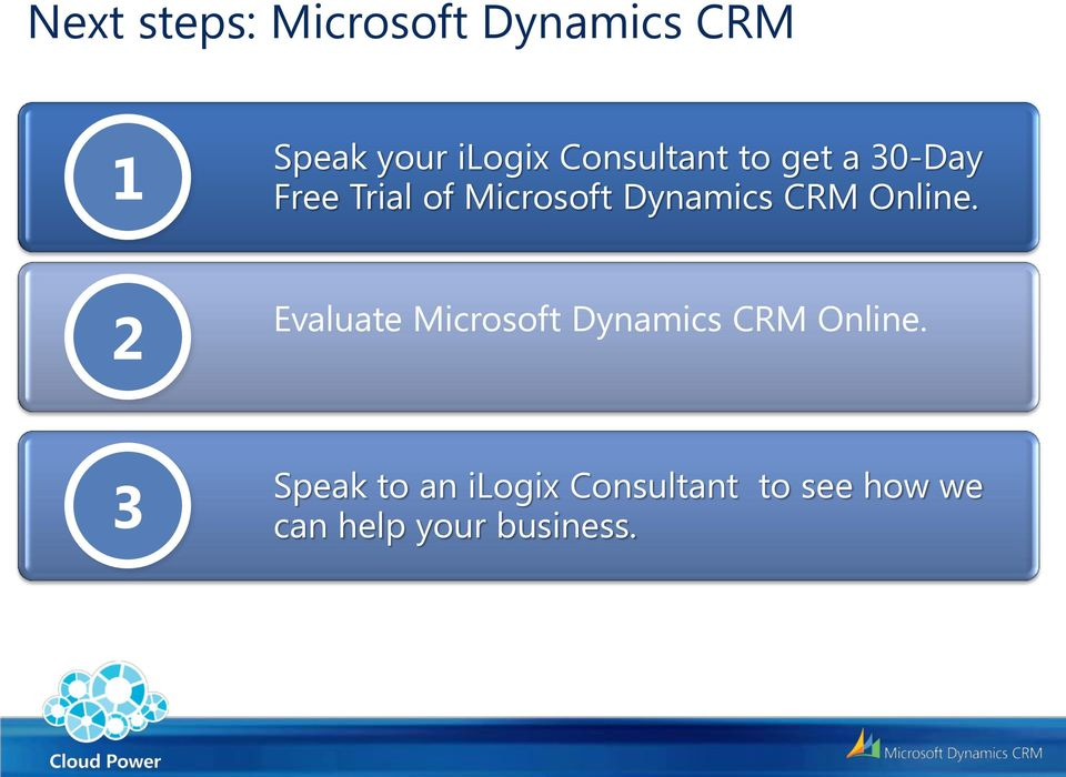 CRM Online. 2 Evaluate Microsoft Dynamics CRM Online.