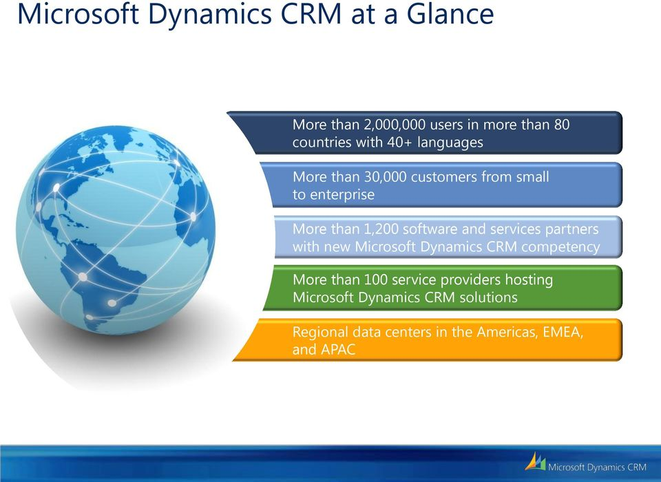 and services partners with new Microsoft Dynamics CRM competency More than 100 service