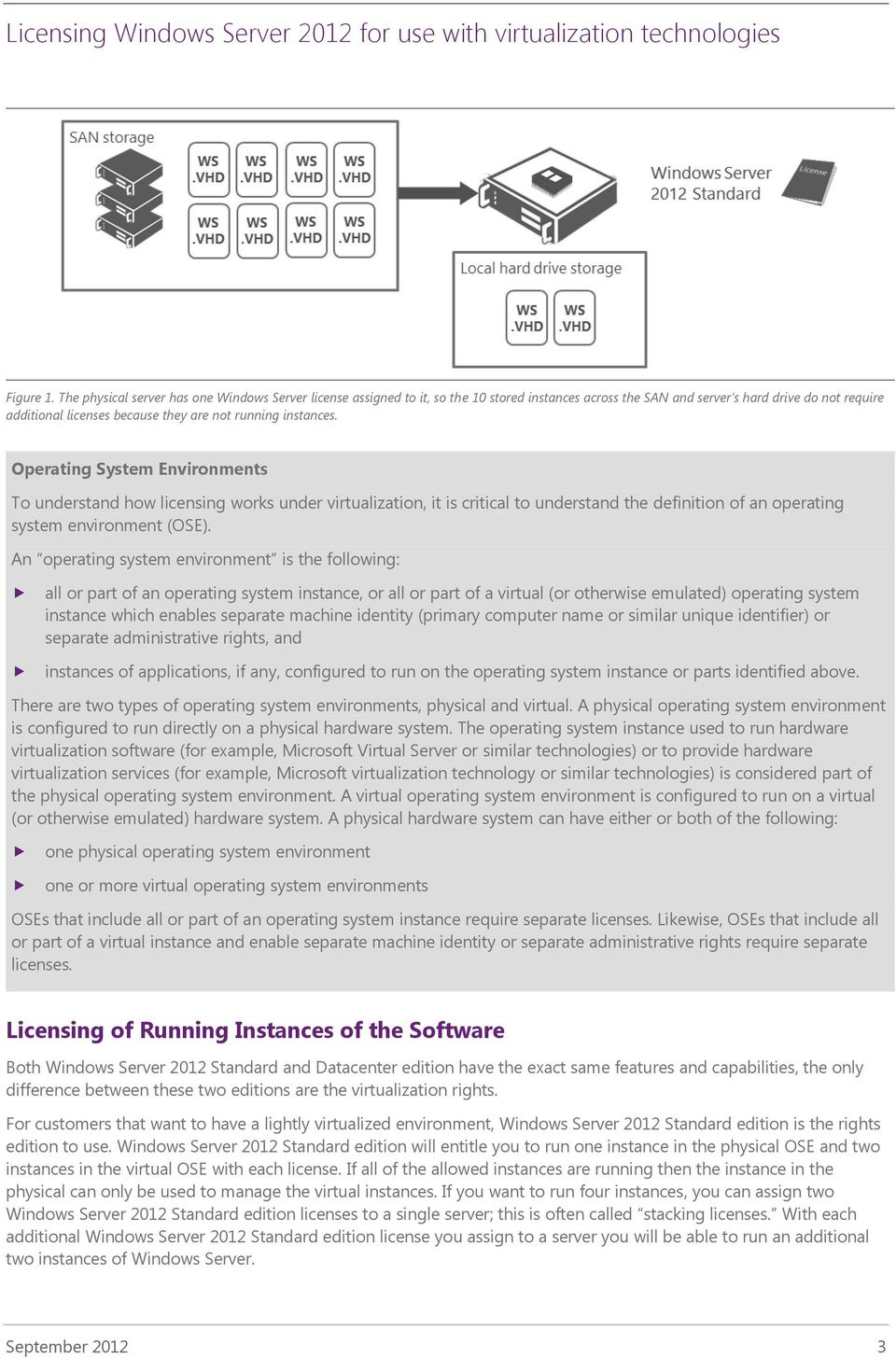 Operating System Envirnments T understand hw licensing wrks under virtualizatin, it is critical t understand the definitin f an perating system envirnment (OSE).