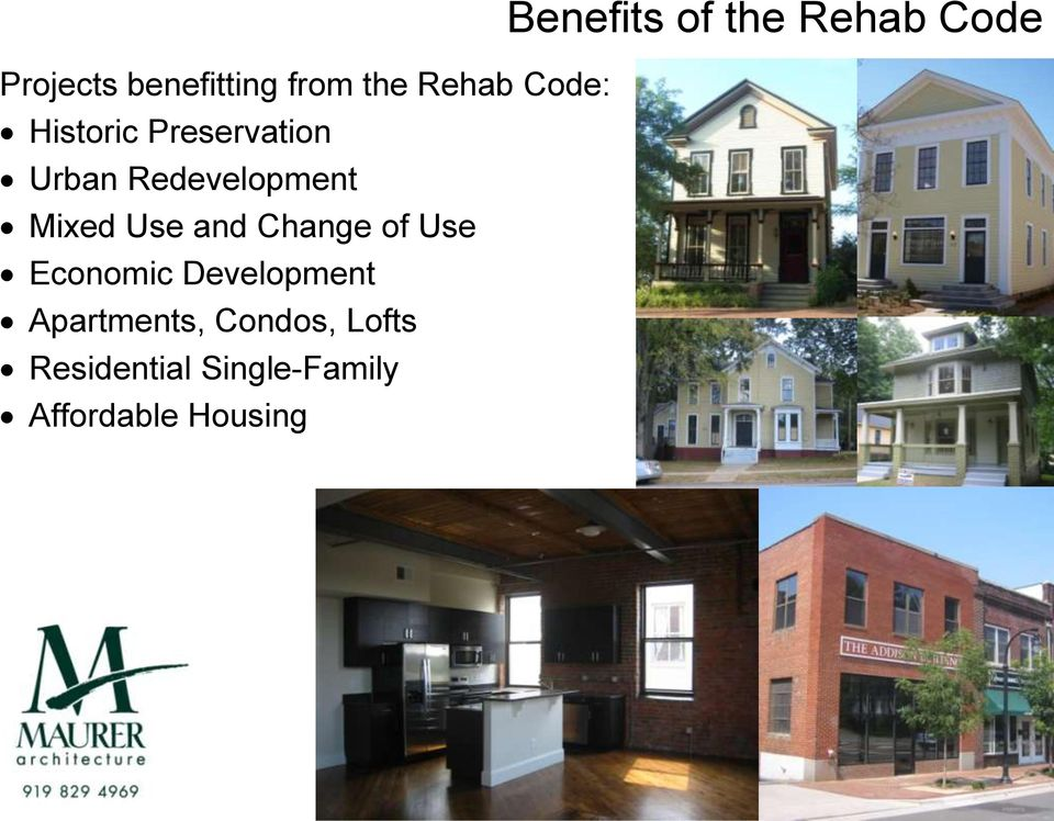 Mixed Use and Change of Use Economic Development