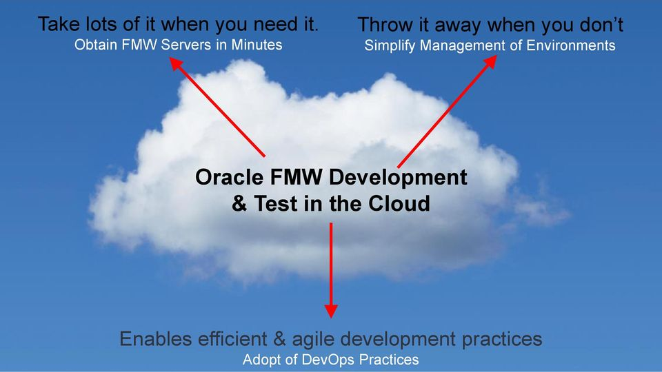 Simplify Management of Environments Oracle FMW Development &