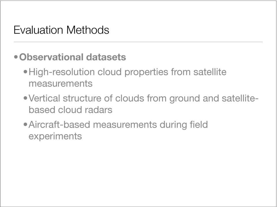 measurements Vertical structure of clouds from ground