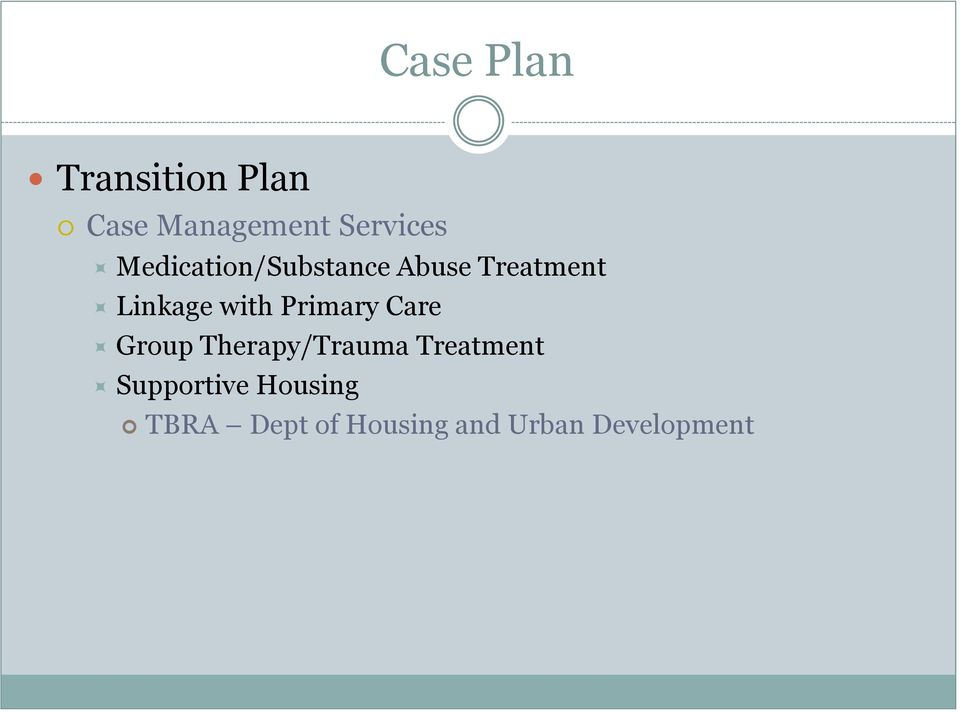 Primary Care Group Therapy/Trauma Treatment