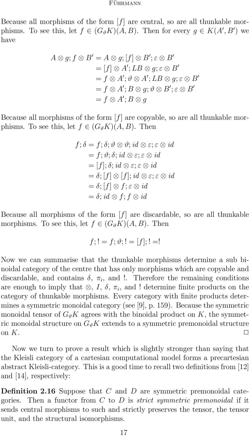 all thunkable morphisms. To see this, let f (G ϑ K)(A, B).