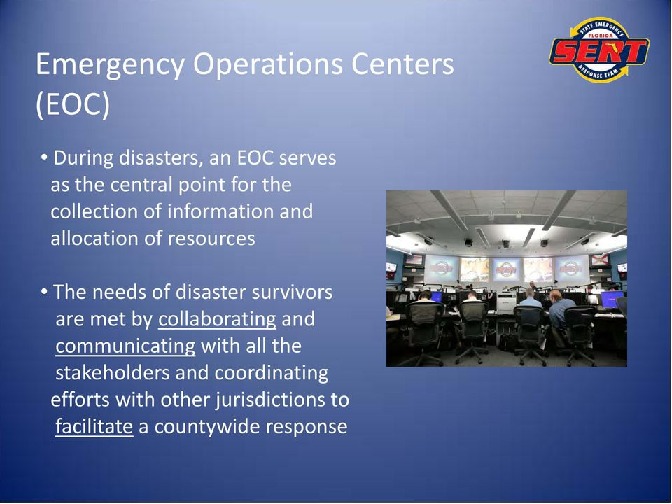 disaster survivors are met by collaborating and communicating with all the