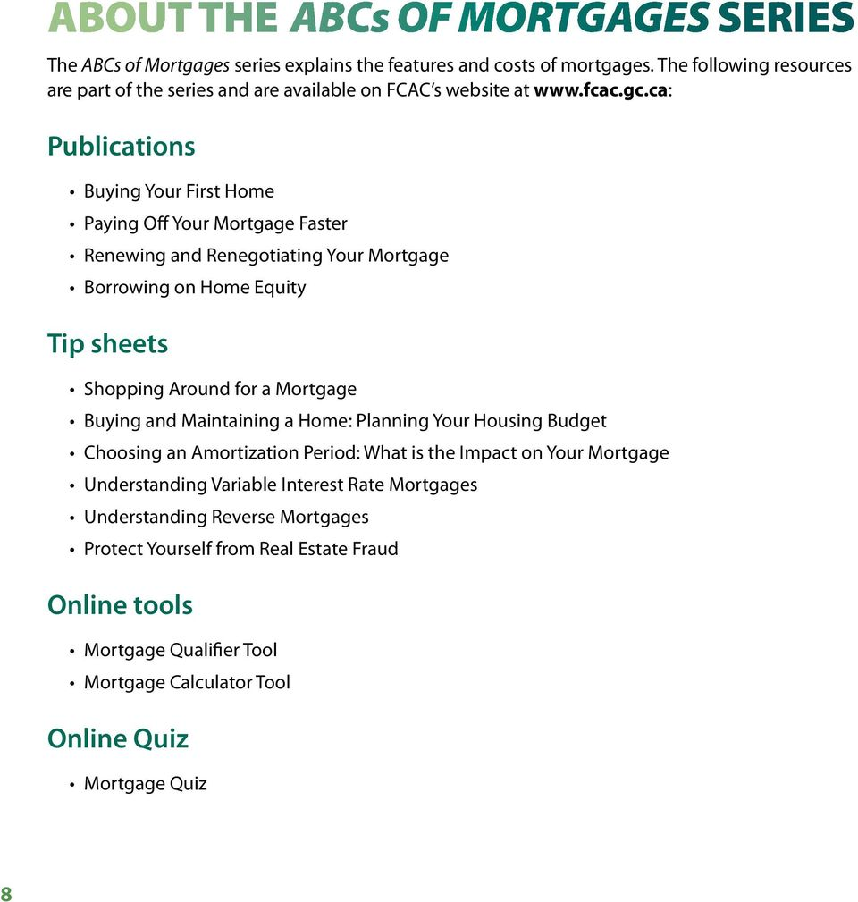 Fcac mortgage calculator