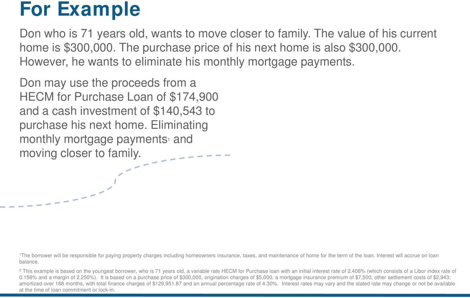 Eliminating monthly mortgage payments 1 and moving closer to family.
