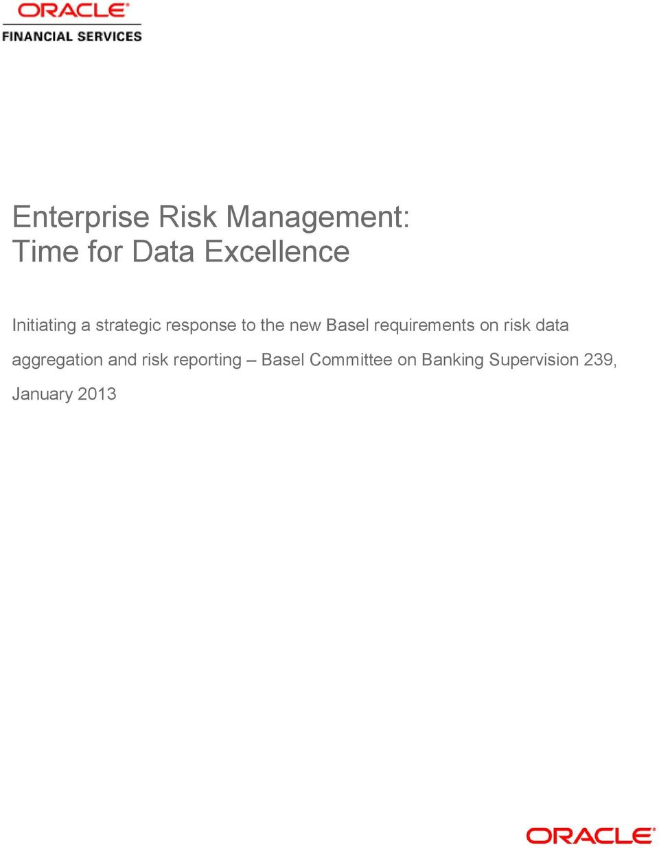 requirements on risk data aggregation and risk
