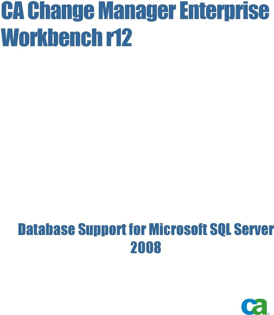 r12 Database Support