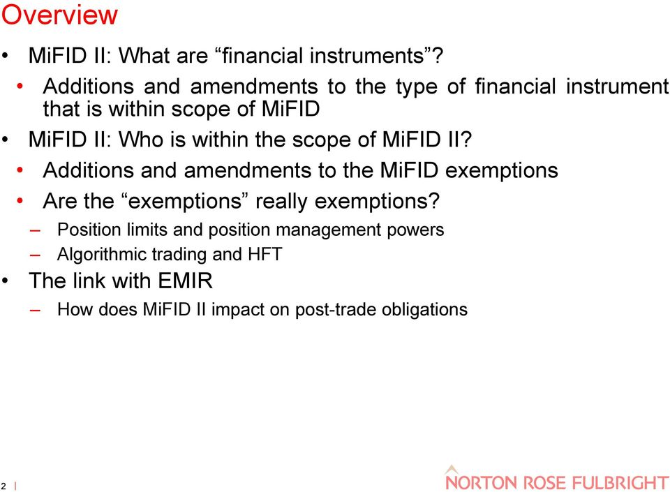 is within the scope of MiFID II?