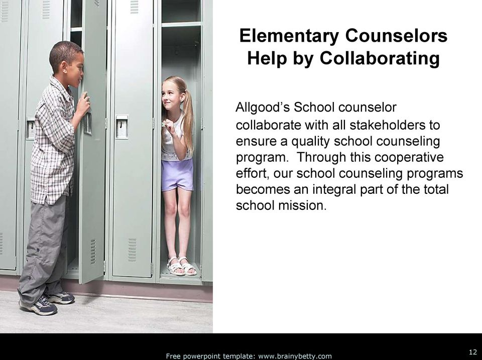 school counseling program.