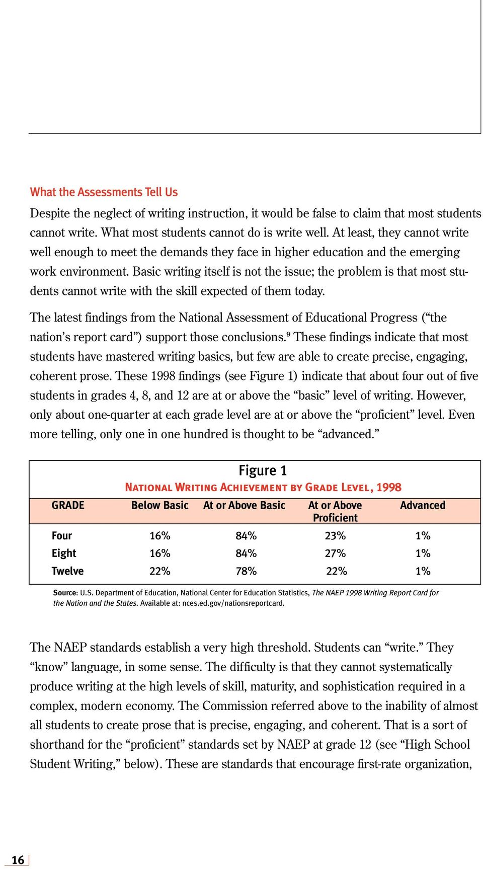 Basic writing itself is not the issue; the problem is that most students cannot write with the skill expected of them today.