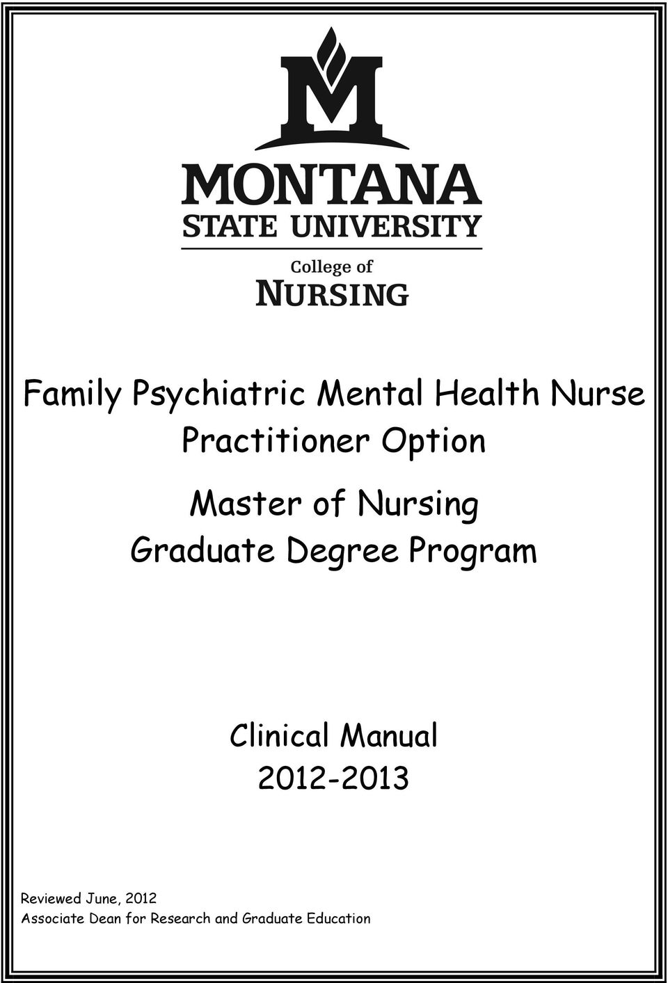 Degree Program Clinical Manual 2012-2013 Reviewed