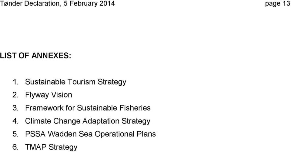 Framework for Sustainable Fisheries 4.