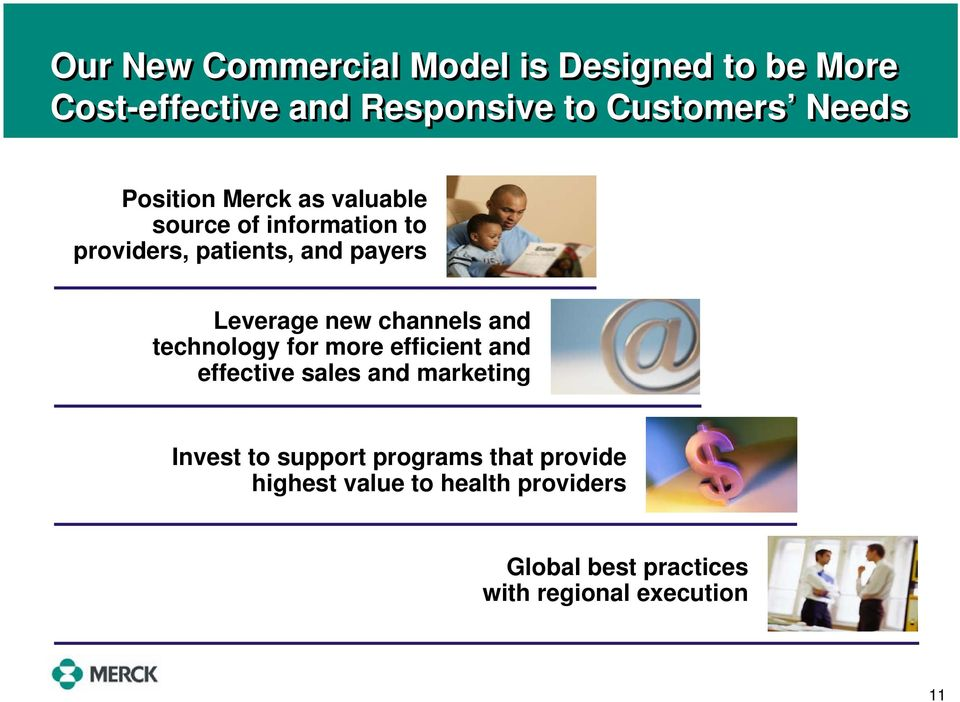 channels and technology for more efficient and effective sales and marketing Invest to support