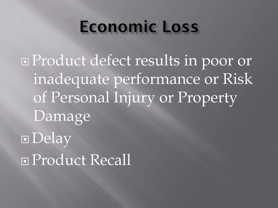Risk of Personal Injury or