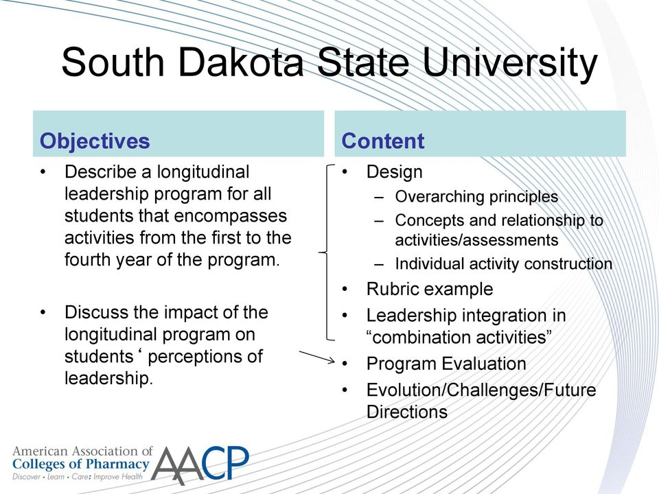 Discuss the impact of the longitudinal program on students perceptions of leadership.