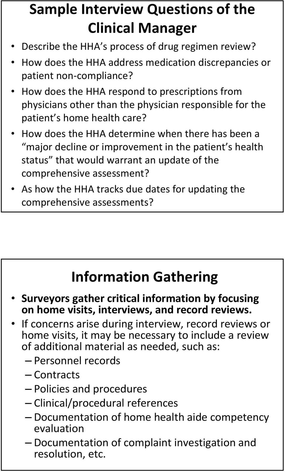 How does the HHA determine when there has been a major decline or improvement in the patient s health status that would warrant an update of the comprehensive assessment?