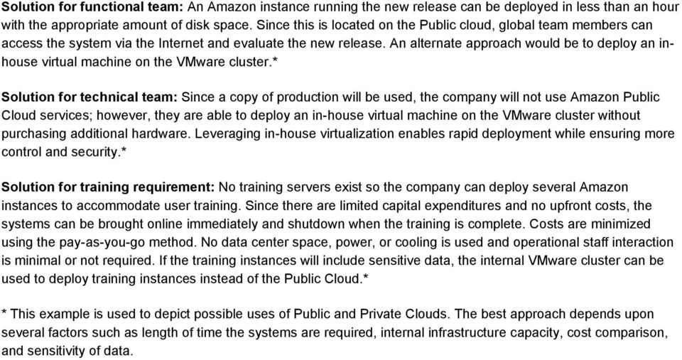 An alternate approach would be to deploy an inhouse virtual machine on the VMware cluster.