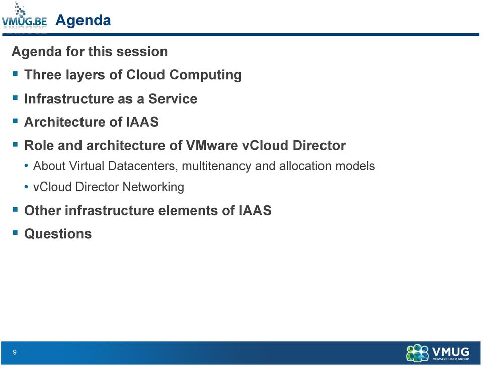 VMware vcloud Director About Virtual Datacenters, multitenancy and