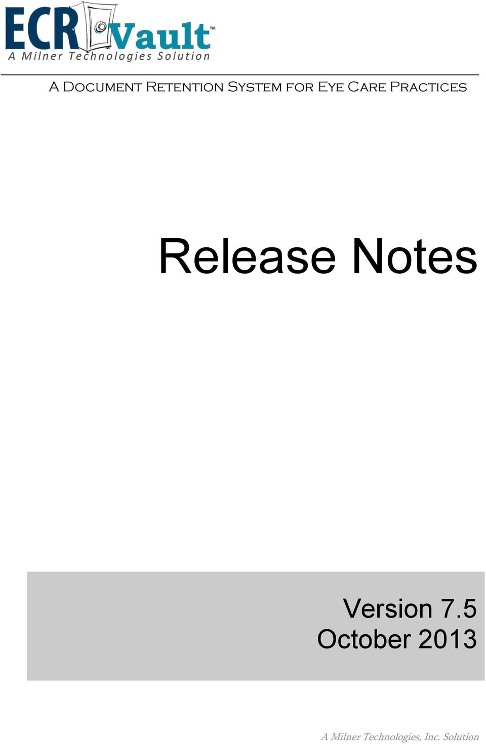 Release Notes Version 7.