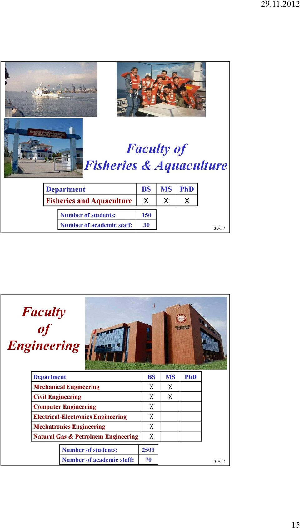 Engineering Computer Engineering Electrical-Electronics Engineering Mechatronics