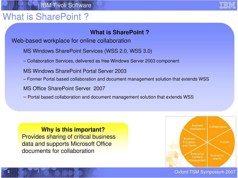 collaboration and document management solution that extends WSS MS Office SharePoint Server 2007 Portal based collaboration and document