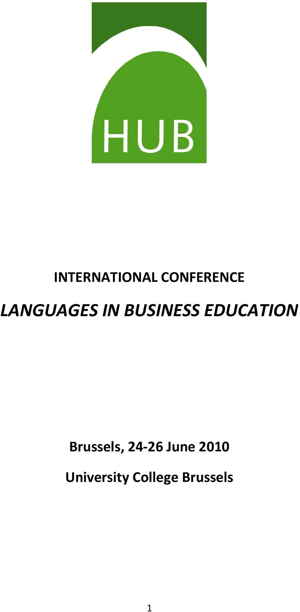 EDUCATION Brussels, 24-26