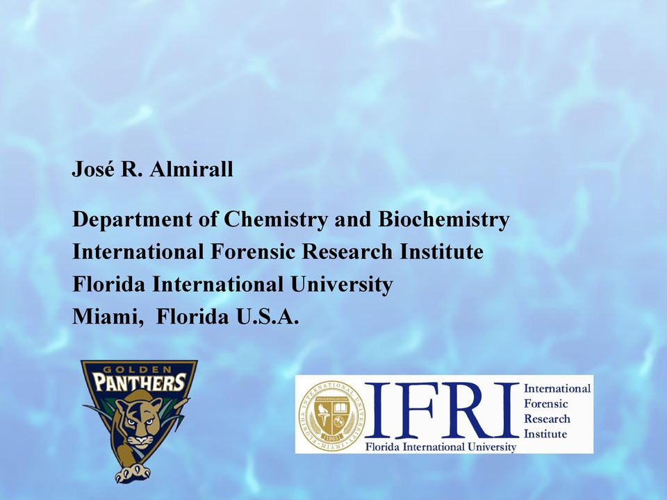 Biochemistry International Forensic