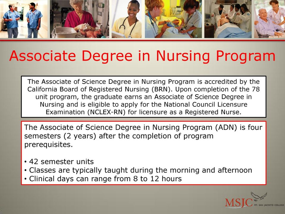 Licensure Examination (NCLEX-RN) for licensure as a Registered Nurse.