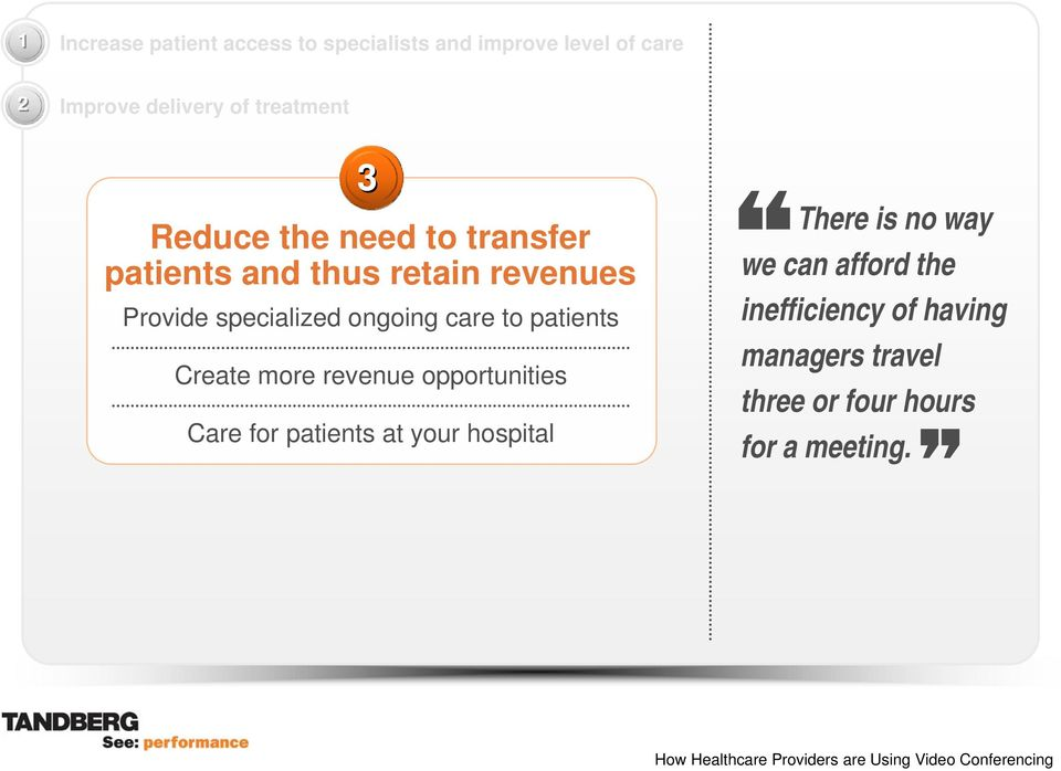 ongoing care to patients Create more revenue opportunities Care for patients at your hospital
