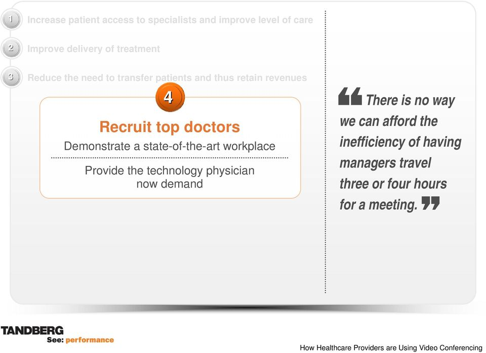 doctors Demonstrate a state-of-the-art workplace Provide the technology physician now demand