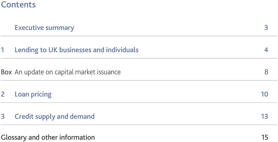 capital market issuance 8 2 Loan pricing 1 3
