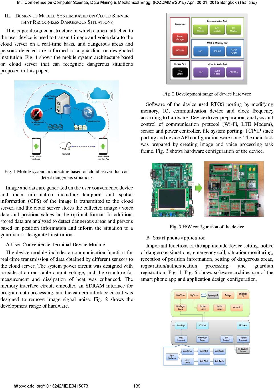 1 shows the mobile system architecture based on cloud server that can recognize dangerous situations proposed in this paper. Fig.