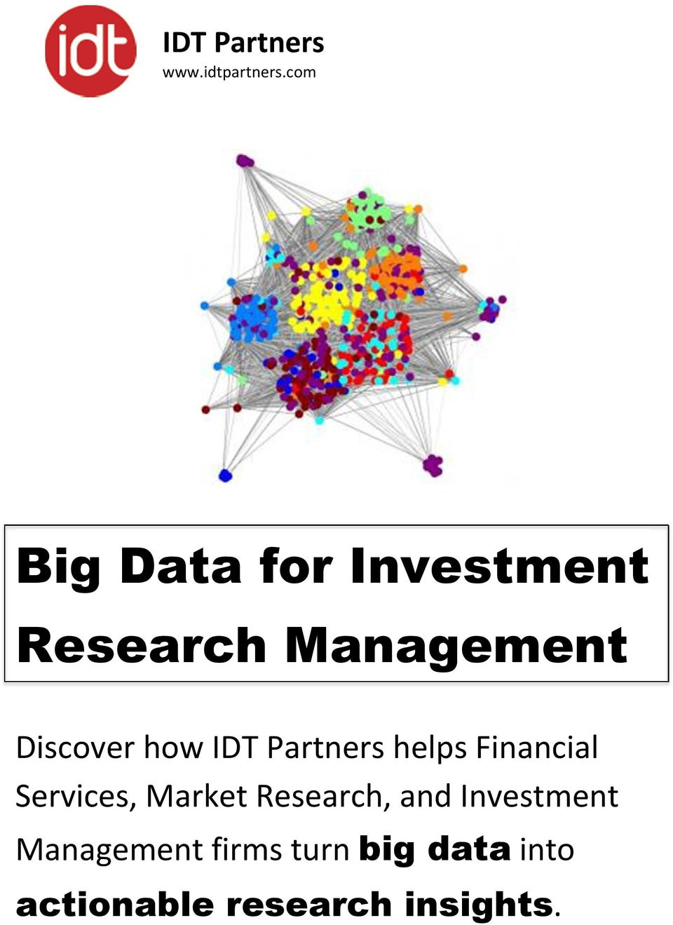 how IDT Partners helps Financial Services, Market