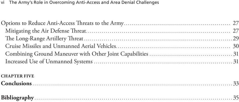 .. 27 The Long-Range Artillery Threat...29 Cruise Missiles and Unmanned Aerial Vehicles.