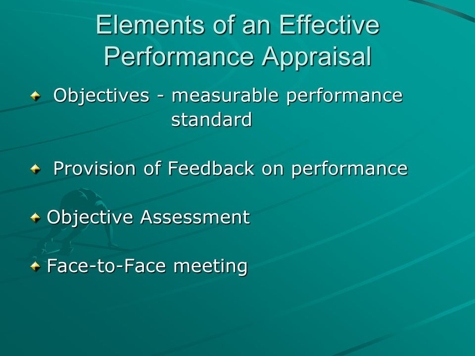 performance standard Provision of Feedback