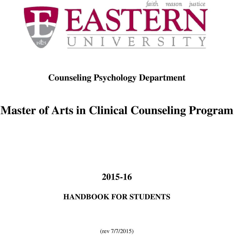 Clinical Counseling Program